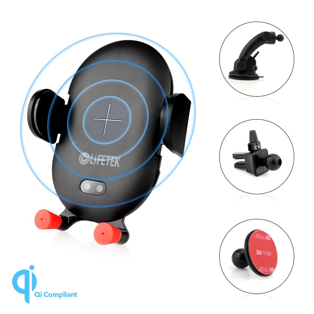 Fräscha Lifetek trådlös Qi mobilladdare & hållare för bilen AC-91